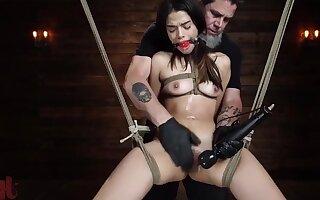 weird call-girl Harmony Wonders BDSM