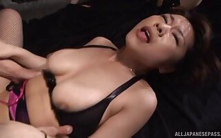 Yukino Hikaru and their way hot cellmate take a crack at to suck three guys off