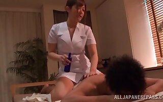 Oiled masseur Kokomi Naruse gets fucked hard by her customer