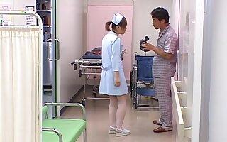 Asian nurse gets get under one's dick in a pretty kinky scene