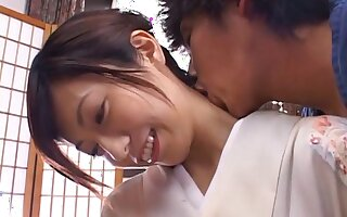 Closeup video of Japanese sculpture Noa having passionate sex convenient home