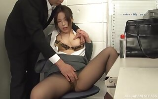 Quickie fucking forth the slot in the air load of shit stimulated Japanese girl Kiriyama Anna