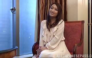 Japanese housewife Kotomi Asakura makes her first porno video