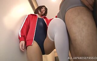Slim Japanese combines foot fetish with crazy amateur sex