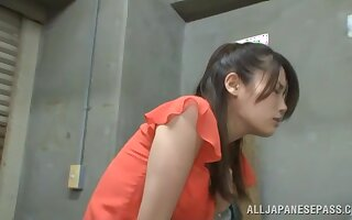 Hot ass Japanese explicit gets fucked good off out of one's mind a lucky stranger