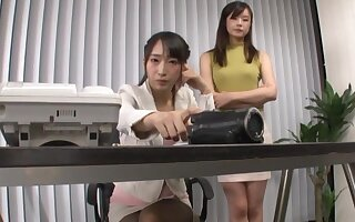 Japanese grown-up shared fine lesbian moments with reject a delete Japanese teen