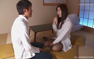 Wild pussy drilling with toys and a stiff dick makes Yume Kana cum