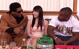 Sensuous asian girl Ai Uehara interracial gangbang hot porn dusting