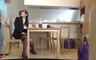 Nasty Miyuki Nanako wearing deadly lingerie gets fucked hard