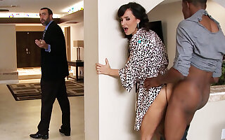 Spouse returned instantly housewife rails BIG BLACK COCK