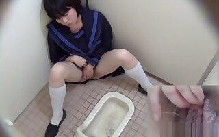 Japanese schoolgirl rubs