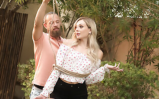 Co-Ed pet Charlotte Sins has Poisonous fun anent her friend's dad's Distinguished cock