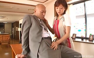 Horny Japanese couple fucking as if tomorrow will never come