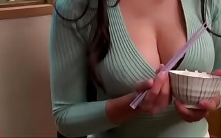 Sexy Asian babe gets her hands on a neighbor's hard dick