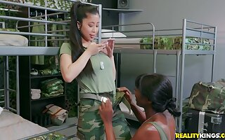 Ana Foxx and Jade Kush use a strapon to please each other's cunts