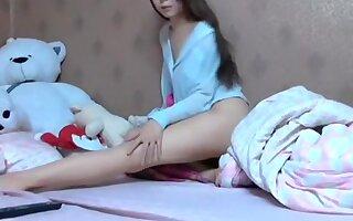 Peep! Live chat Masturbation! - Korean Hen fair-skinned with ultra-cute skinny girl hawt dance Part.1
