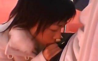 japanese blowjob sucking small cock cumshot