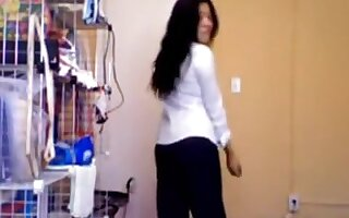oriental girlfriend disrobes down on cam showing her miniature bazookas and shaggy bawdy cleft