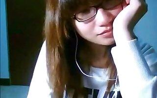 Cute Chinese girl flashing her boobs on Skype