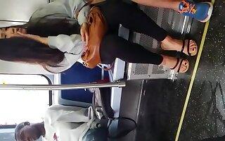 Chinese cute girl medial train