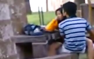 Indian reinforcer public sex exposed to bench