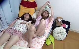 Asians pissing in bed